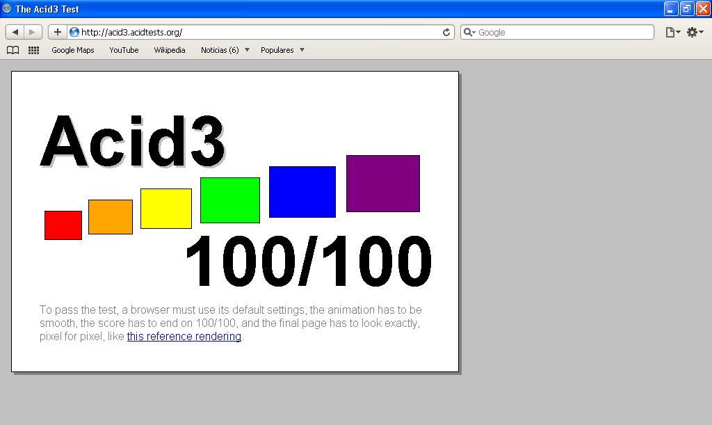 Опера прошла тестирование на 100% из 100. . Версия IE - 7, версия Opera - 9