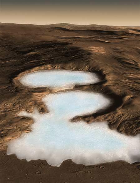 Resultado de imagen de Hielo en Marte