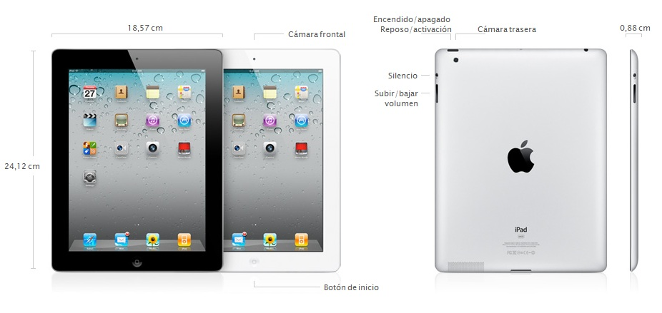 Especificaciones iPad 2