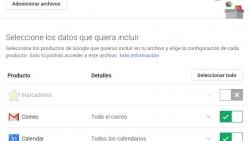 Ahora Google permite descargar todos tus datos
