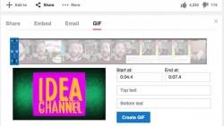 YouTube permitirá crear GIF desde sus videos