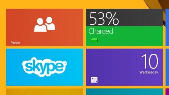 Cómo poner un indicador de batería en la pantalla de inicio de Windows 8
