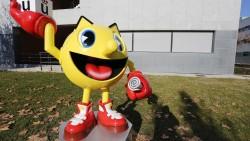 La escultura de Pac-Man, alumno de honor de la Universidad Rey Juan Carlos