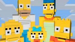 Los personajes de Los Simpsons llegan a Minecraft