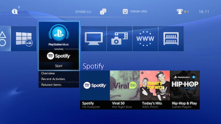 Spotify ya funciona en la PS3 y en la PS4 de Sony