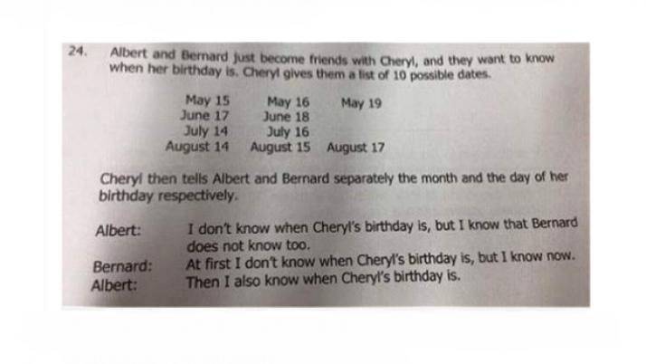 La respuesta al problema matemático es….