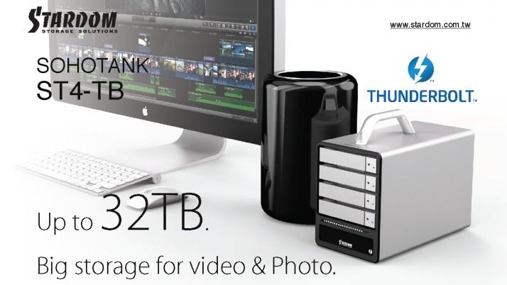 Stardom Thunderbolt2 ST4-TB con almacenamiento RAID 0 y JBOD para este mes