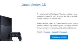 Sony filtra un nuevo firmware no oficial para la PS4