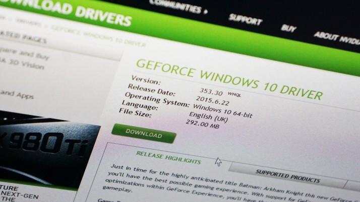 NVIDIA lanza los drivers GeForce 355.60 para Windows 10