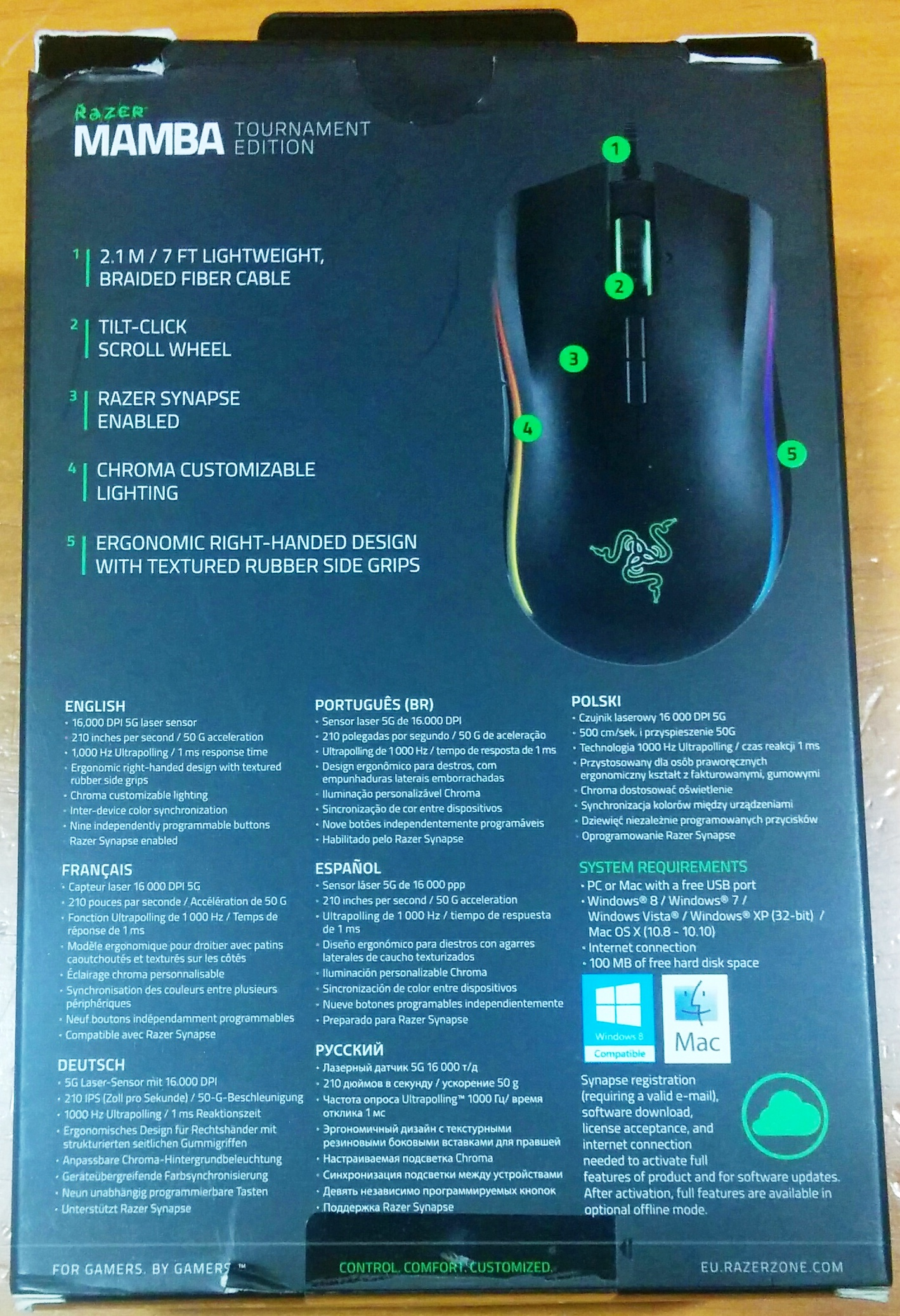 Ratón gaming Razer Mamba Tournament Edition - Review - Página 2 de 6