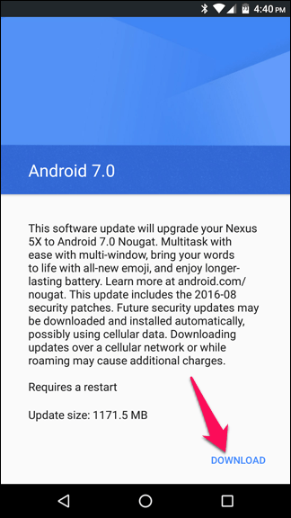 Android Nougat 3.1