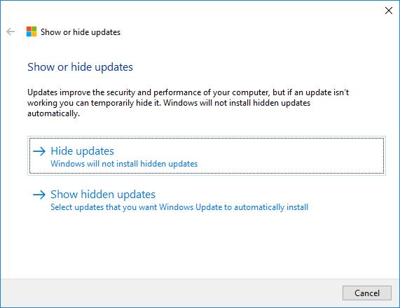 Windows 10 actualizaciones 1