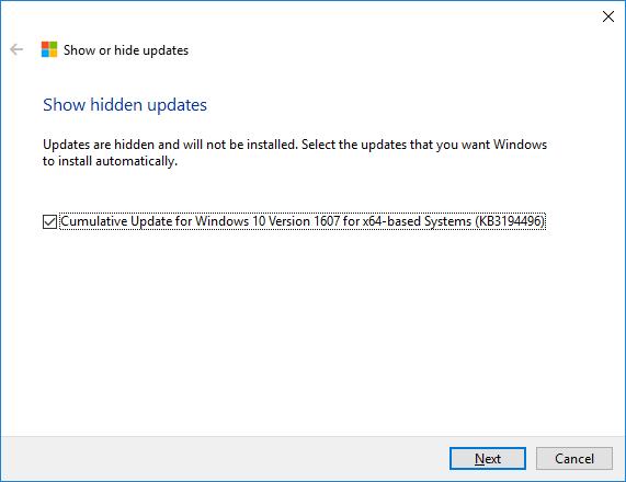Windows 10 actualizaciones 3