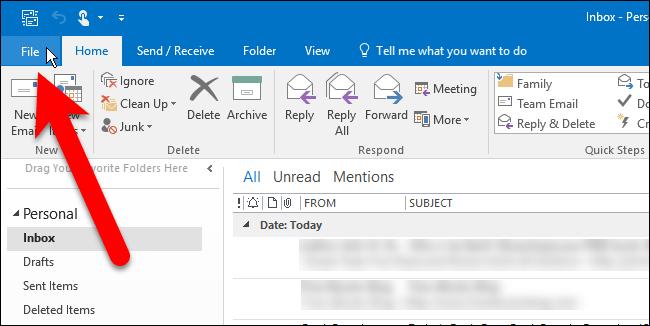 reducir archivo de datos de Outlook 3