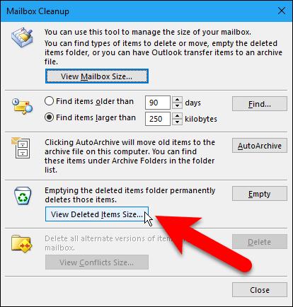 reducir archivo de datos de Outlook 7
