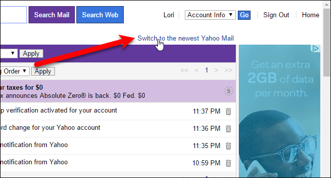 Yahoo Mail 8