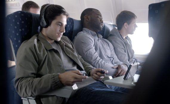 Nintendo Switch vuelo avión