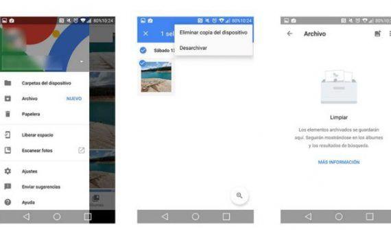 Google Fotos ocultar fotos
