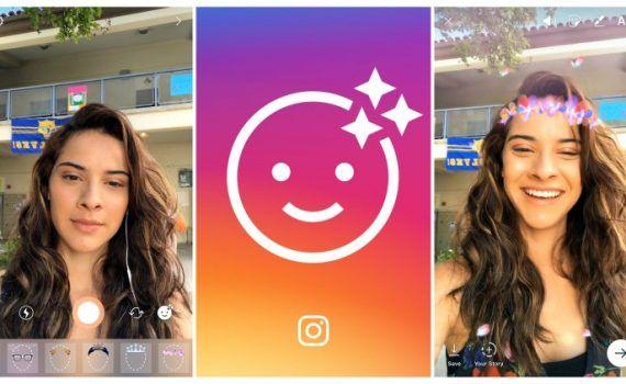 Instagram máscaras Snapchat