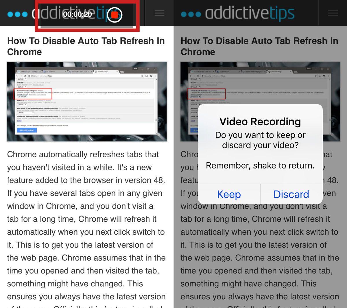 grabar tu navegador en el iPhone