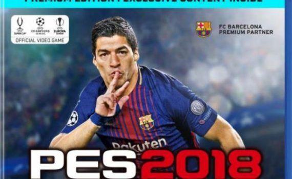 Luis Suárez portada PES 2018 Europa