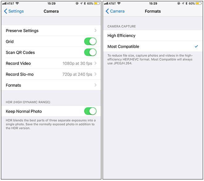 usar archivos JPG y MP4 en iPhone