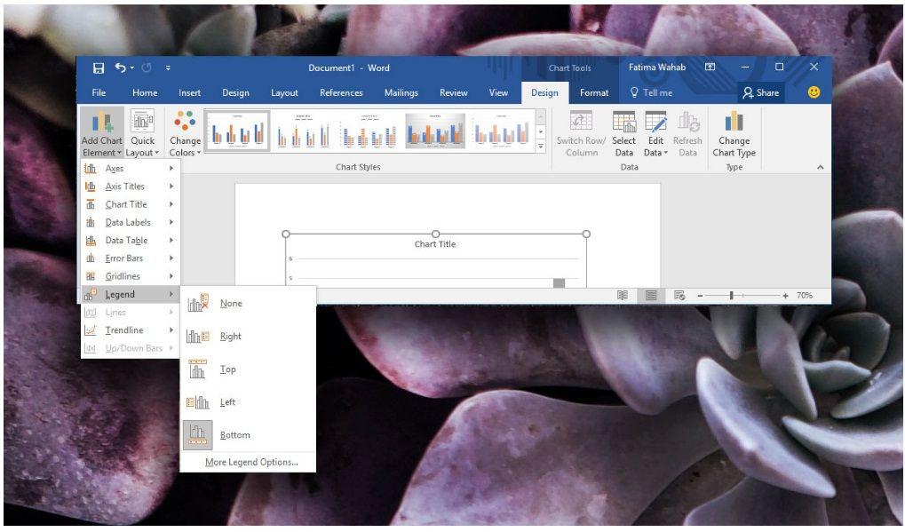 Leyenda del gráfico en MS Office