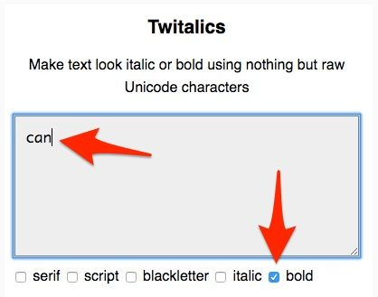 Twitter: ¿Cómo puedo usar texto en negrita y en cursiva