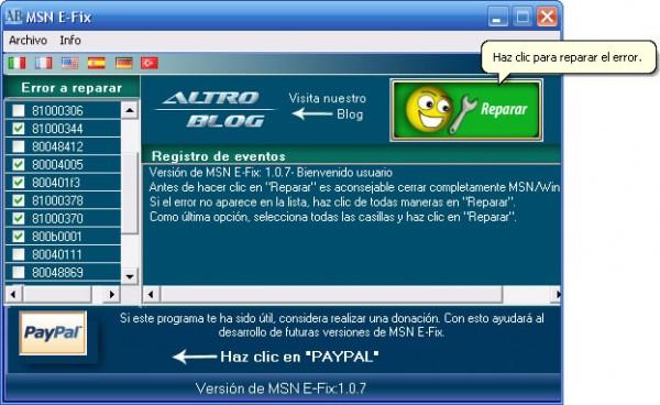 Debes Descargar MSN E Fix Un Sencillo Programa Desarrollado Por El Autor De Altro Blog Con No Tendrs Que Reinstalar Tu Windows Live Messenger