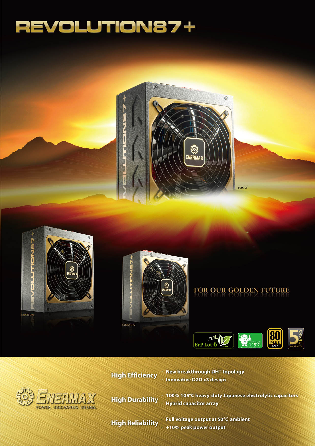 Review Fuente Modular Enermax Revolution87 650w 80plus Gold Revolution 87 850w Erv850ewt G