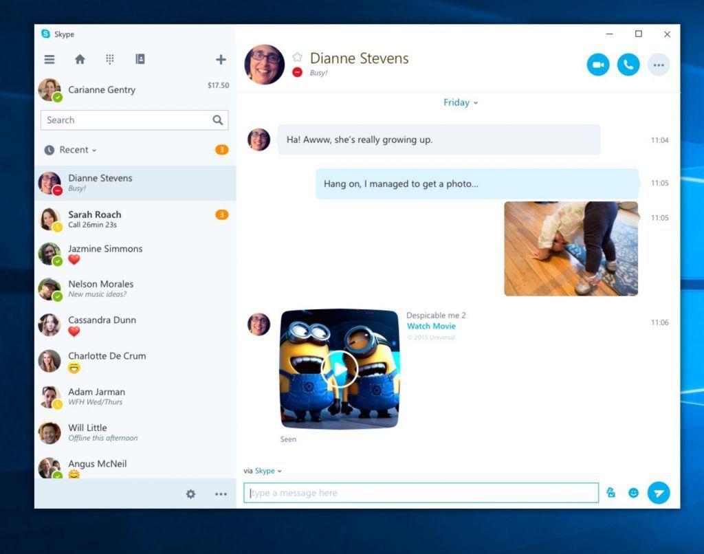 Skype Windows 10 Mobile