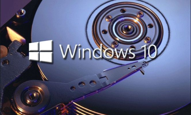 Disco duro de Windows 10