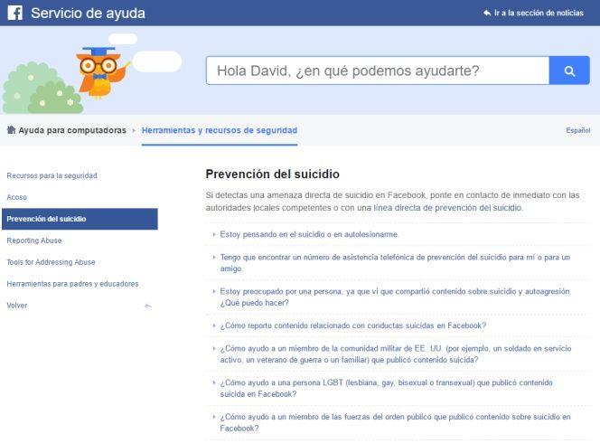 Facebook suicidas