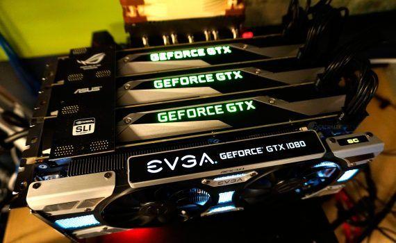 NVIDIA soporte triple y cuádruple SLI GTX 1070 y GTX 1080