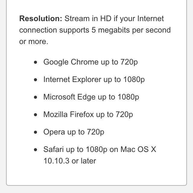 Microsoft Edge Netflix 1080p