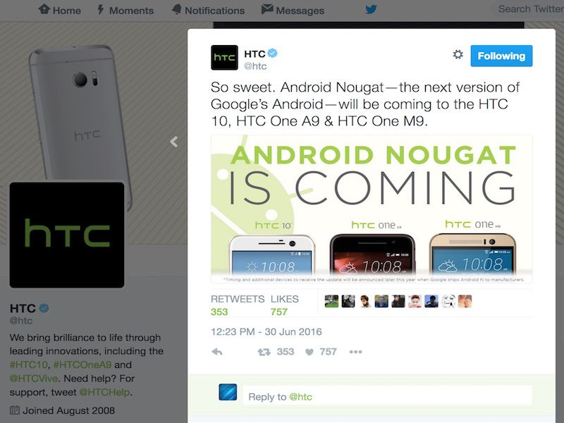 Android 7.0 Nougat Android One