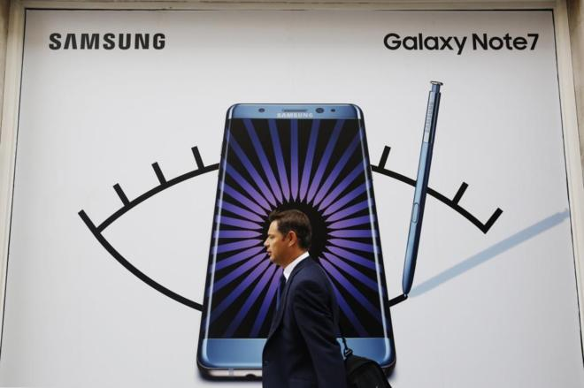 Samsung Galaxy Note 7 devoluciones