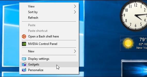 Windows Gadgets