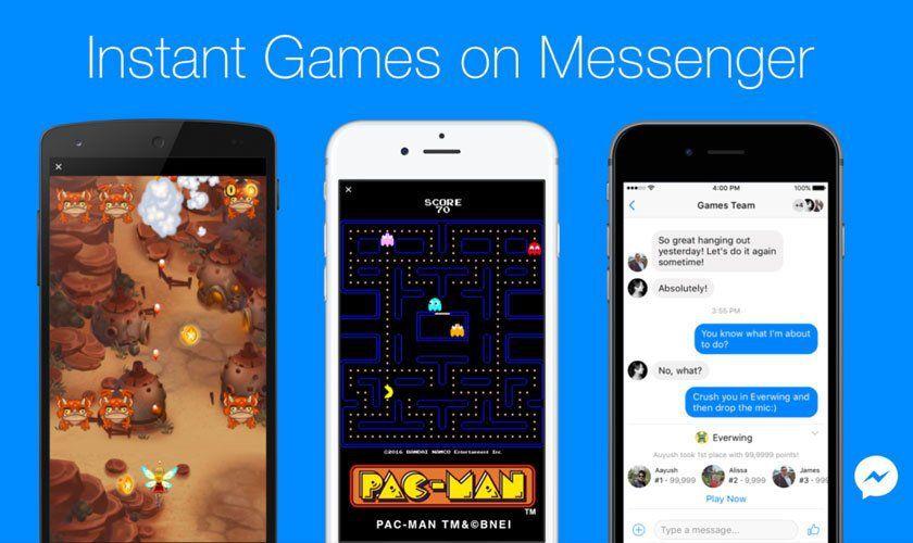 Facebook Messenger juegos instantáneos