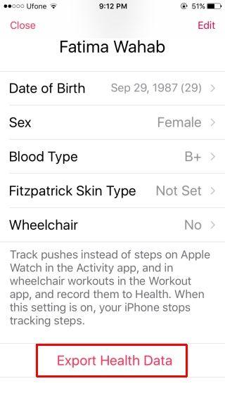 iOS Health 2
