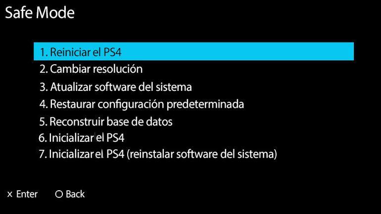 Modo Seguro PS4