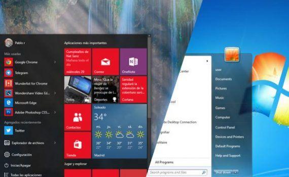 Windows 7 Windows 10