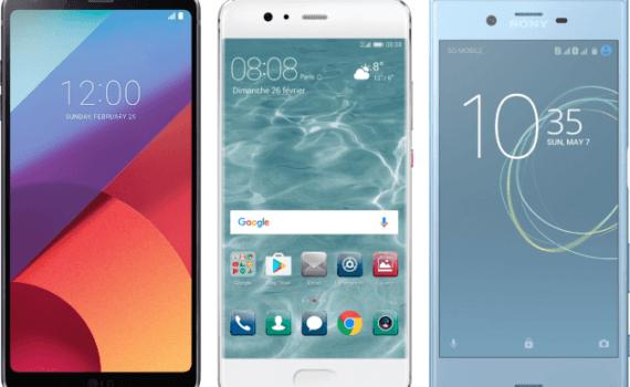 LG G6 Huawei P10 Sony Xperia XZ Premium