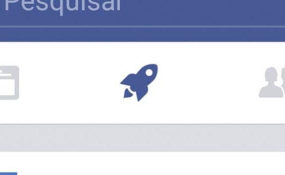 Ícono cohete Facebook
