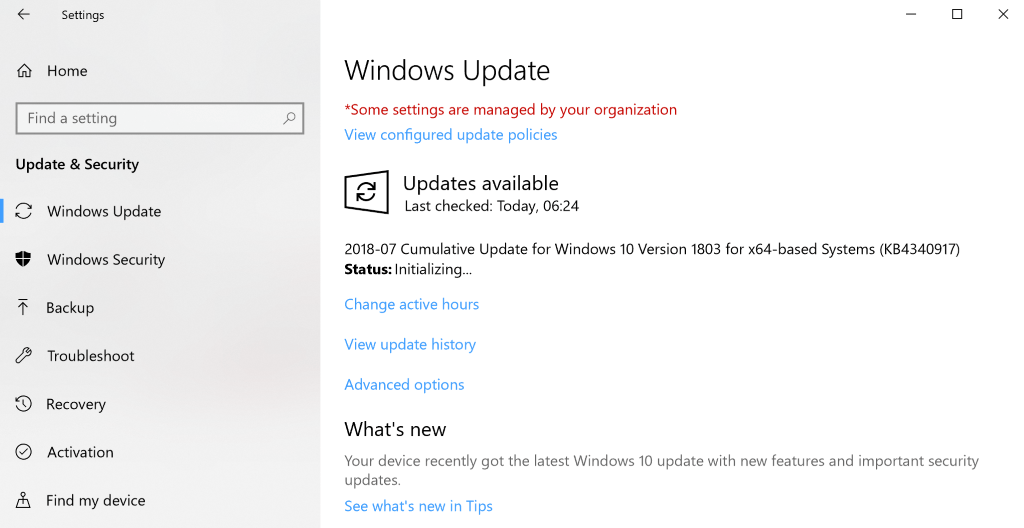 actualizacion windows 10 1803 tamano