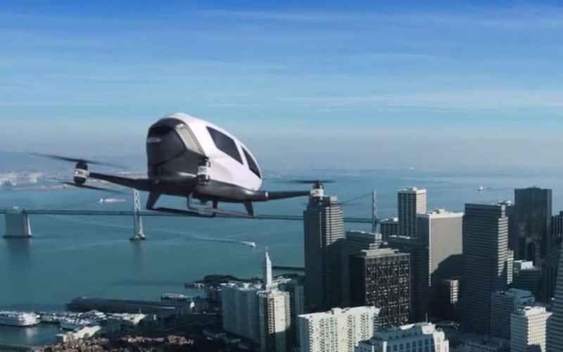 drones de control de tráfico