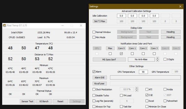 alertas de temperatura de la CPU