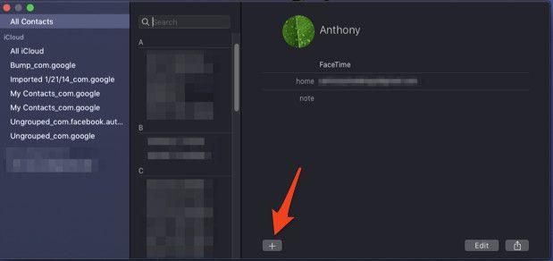 contactos en Mac