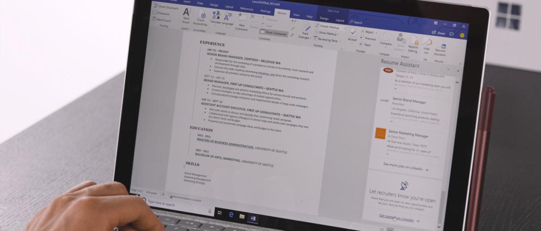 folleto en Microsoft Word