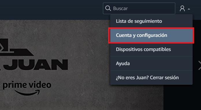 Amazon Prime Vídeo Cuenta y Configuración